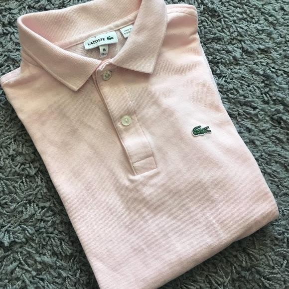 58d0f158 Lacoste Tops | Womens Pink Alligator Logo Polo Shirt 16 | Poshmark